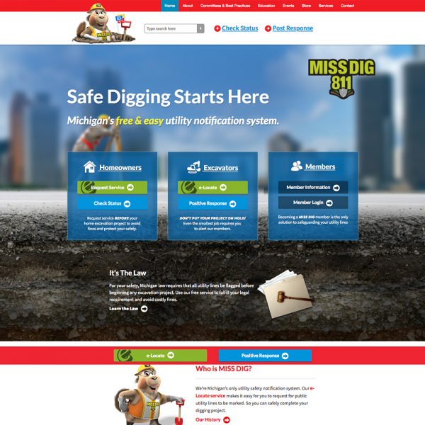 Website Design Portfolio For Small Business High Level Marketing Miss utility is your partner when it comes to safe digging! website design portfolio for small