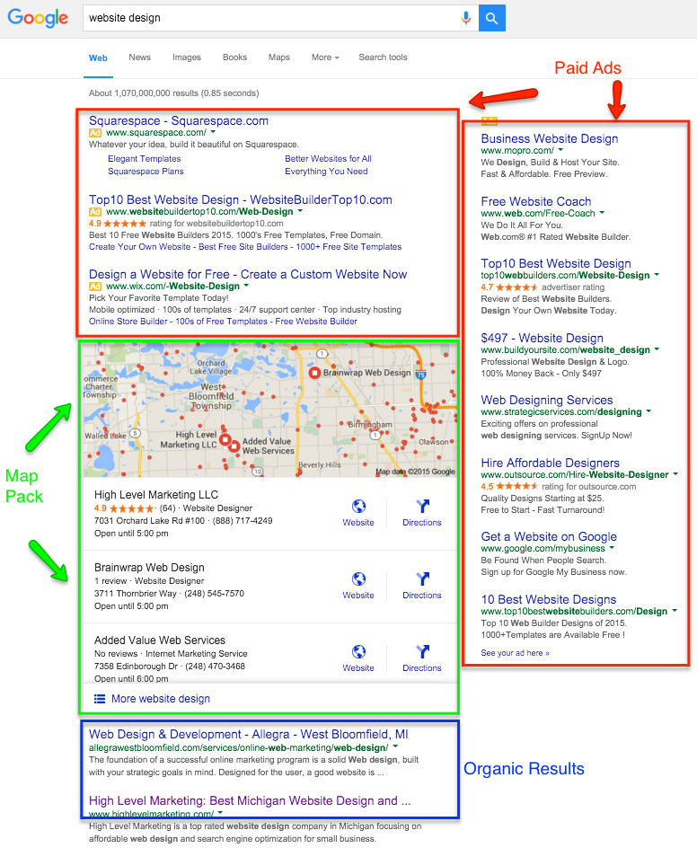 Google My Business Map Pack