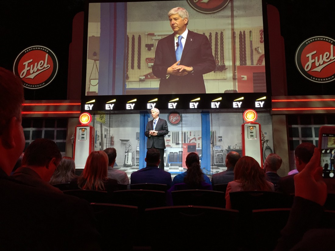 Governor Rick Snyder at FUEL Leadership Conference in Detroit