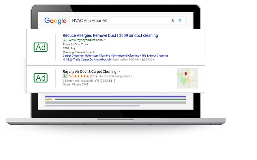 HVAC Marketing: Web Design, SEO, PPC, Social for Heating & Cooling - paid-search-hvac