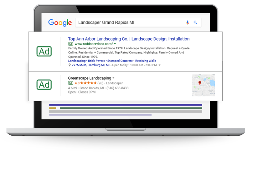 Landscaper Digital Marketing, Website Tips & Guide to Get More Leads & Customers Online - paid-search-landscape