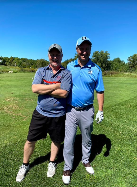 Staff members at HLM can be friends, but on the golf course, they are also rivals.