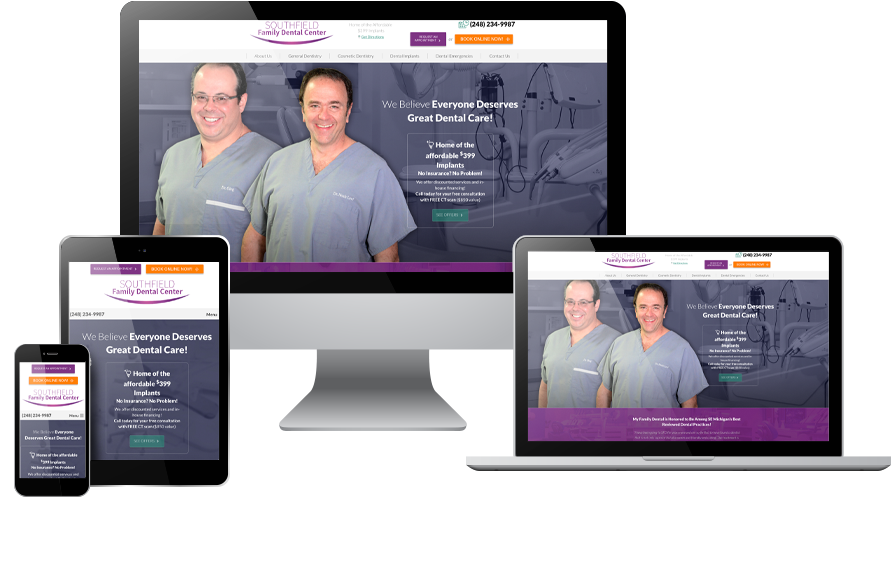 web design marketing for dentists