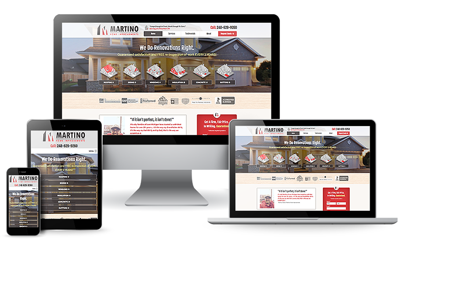 Home Improvement Digital Marketing, Website Tips & Guide to Get More Leads & Customers  - web-design-improv